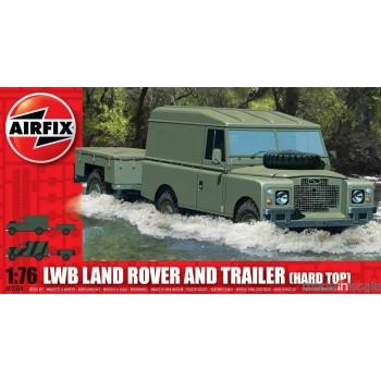 Maqueta Land Rover LWB con remolque